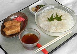 島原素麺といなりのセット